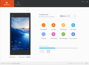 mi pc suite front ui