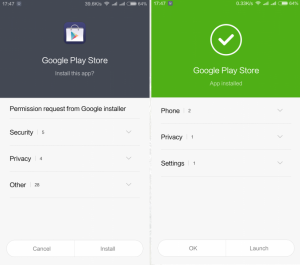 Installing Play Store