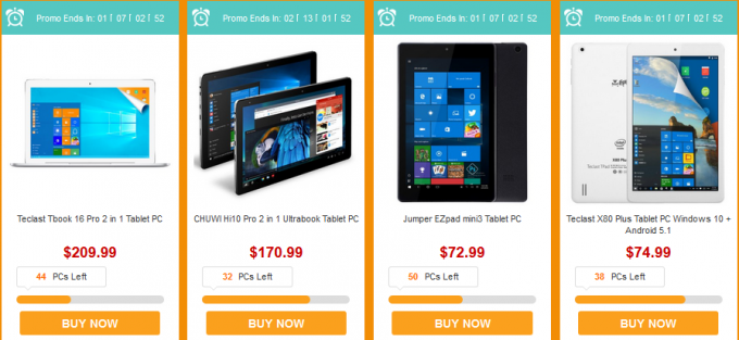 various tablet brands sale